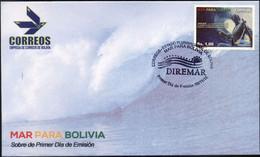 """Bolivia 2016 CEFIBOL 2291s ** """"Mar Para Bolivia"""". Ola Gigante. Avaroa. - Bolivia"""