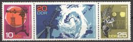 DDR 1343/45 Dreierstreifen ** Postfrisch - Nuevos