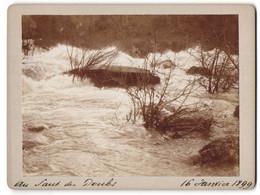 Photo  Vue De Les Brenets, Au Saut Du Doubs, 16 Janvier 1899, Überschwemmung - Luoghi
