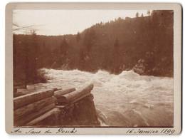 Photo  Vue De Les Brenets, Au Saut Du Doubs, 16 Janvier 1899, Stromschnellen - Luoghi