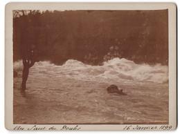 Photo  Vue De Les Brenets, Au Saut Du Doubs, 16 Janvier 1899, Reissender Bach - Luoghi