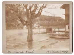 Photo  Vue De Les Brenets, Au Saut Du Doubs, Hocdhwasser 1899 - Luoghi