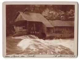 Photo  Vue De Les Brenets, Au Saut Du Doubs, Inondation 1899 - Luoghi