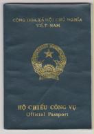 VIETNAM Official Passport 1992 Passport Officiel – Reisepaß - Documentos Históricos