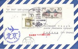 Luftpostbeleg DDR Interflug IF700 Berlin-Peking 30.4.1987 - Cartas