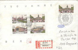 Berlin Block 8 Auf R-FDC - FDC: Covers