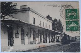 38 - DRAGUIGNAN - La Gare Du P.L.M. - Arrivée D'un Train - Draguignan