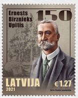 2021  Latvia LETTLAND Lettonia 2021  Writer - Ernests Birznieks Upitis - 150 MNH - Letland