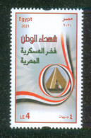 EGYPT / 2021 / MARTYR'S DAY / MONUMENT OF THE UNKNOWN SOLDIER / FLAG / MNH / VF - Unused Stamps