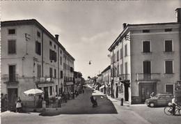 MONTEFORTE D'ALPONE-VERONA-VIA DANTE-ANIMATISSIMA-CARTOLINA VERA FOTOGRAFIA- NON VIAGGIATA -1950-1955 - Verona