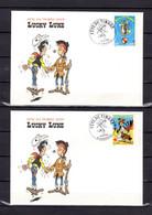 """Lot """" F.D.T. 2003 : LUCKY LUKE """"  Sur 2 Enveloppes 1er Jour De 2003. N° YT 3546 3547. Parfait état. FDC - Comics"""