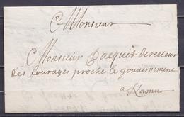 L. Datée 10 Juillet 1696 Du Camp De GEMBLOUX Pour NAMUR - 1621-1713 (Spanish Netherlands)