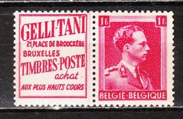 PU147**  Leopold III Col Ouvert - Gelli-Tani - MNH** - LOOK!!!! - Advertising