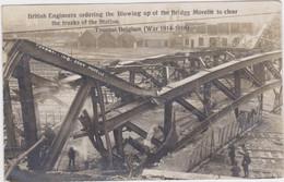 Doornik/Tournai - Gebombardeerde Brug Aan Het Station (gelopen Kaart Zonder Zegel) - War 1914-18