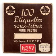 Pochette 100 étiquettes, Sous-titres, Pour Photos, EUREKA. - Supplies And Equipment