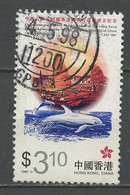 Hong Kong - Honkong - Chine 1997 Y&T N°842 - Michel N°824 (o) - 3,10d Jonque Et Dauphin - Used Stamps