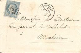 BAS-RHIN (67)  LSC De INGWILLER OBLI GC 1824 Sur NAP Pour RIXHEIM + AMBULANT - 1849-1876: Periodo Classico