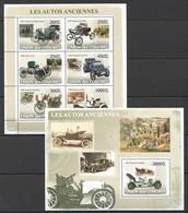 UC107 2008 UNION DES COMORES LES AUTOS ANCIENNES KB+BL MNH - Cars