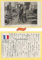 CPA MILITARIA *** Illustrateur LOUIS RAEMAEKERS *** Paquebot BRITANIQUE Torpillé  - VICTIMES DU LUSITANIA - - Andere Oorlogen