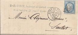 INDRE ET LOIRE (36) LAC  De  TOURS GC 3997 Sur CERES  + GARE DE TOURS Pour SARLAT - 1849-1876: Classic Period