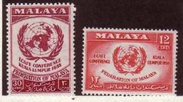 MALAISIE 1958 CONFERENCE ECONOMIQUE  YVERT N°85/86 NEUF** MNH - Federation Of Malaya