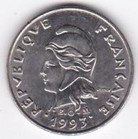 Polynésie Française. 10 Francs 1993 En Nickel - French Polynesia