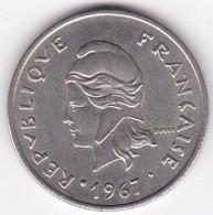 Polynésie Française. 20 Francs 1967 ,  En Nickel - French Polynesia