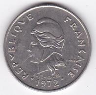 Polynésie Française. 20 Francs 1972,  En Nickel - French Polynesia