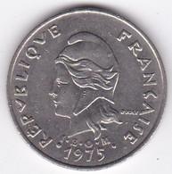 Polynésie Française. 20 Francs 1975,  En Nickel - French Polynesia