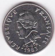 Polynésie Française. 20 Francs 1983,  En Nickel - French Polynesia
