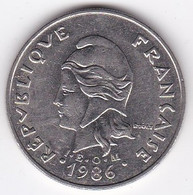 Polynésie Française. 20 Francs 1986,  En Nickel - French Polynesia
