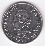 Polynésie Française. 20 Francs 1991,  En Nickel - French Polynesia