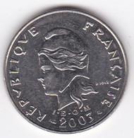 Polynésie Française. 20 Francs 2003,  En Nickel - French Polynesia