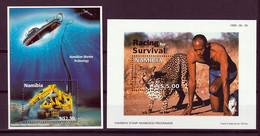 Namibia Blocks 40/1 ** - Namibia (1990- ...)