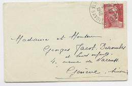 GANDON  6FR N°721 SEUL MIGNONNETTE  ..LAND 1948 POUR GENEVE SUISSE TARIF ?? - 1945-54 Marianna Di Gandon