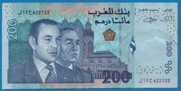MOROCCO MAROC    200 Dirhams 1423 - 2002   P# 71  Roi Mohammed VI & Hassan II - Morocco