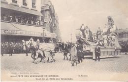 BERG- BORDEAUX  EN GIRONDE  FETE DES VENDANGES CHAR DE LA REINE DES VENDANGES CPA  CIRCULEE - Bordeaux