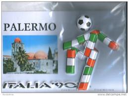 PALERMO 2 MONDIALI DI CALCIO ITALIA '90 -  CARTOLINA A RILIEVO - Football