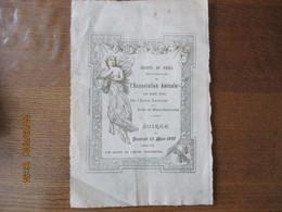 SOIREE DU 12 MARS 1897 SALONS DE L'HOTEL CONTINENTAL GROUPE DE PARIS DE L'ASSOCIATION AMICALE DES ANCIENS ELEVES DE L'EC - Programs