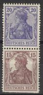 Deutsches Reich Zusammendruck S10 * - Se-Tenant