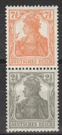 Deutsches Reich Zusammendruck S13 * - Se-Tenant
