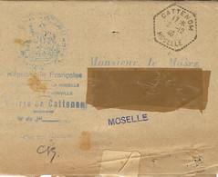 Déc. 46 - AFFICHE  Liste Des Incorporés Dans La Wehrmacht  De CATTENOM ( Moselle ) - Alsazia Lorena