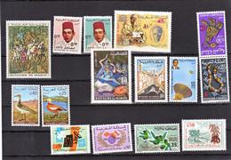 Maroc, Morocco 1970 Année Complète Poste 597/611603A Au Lieu Des 602/603 Neuf ** TB MNH - Maroc (1956-...)