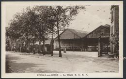 Epinay-sur-Seine - Le Dépôt T. C. R. P. - Tramway - Coll. Wiemert - Phot. Combier Macon - Voir 2 Scans - Other Municipalities