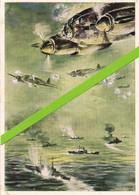 KAMPFFLUGZEUGE GREIFEN GELEITZUG AN * HEINKEL 111 ATTAQUANT UN CONVOI MARITIME * 1943 - 1939-1945: II Guerra