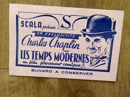 1 BUVARD CHARLES CHAPLIN LES TEMPS MODERNES SCALA - Other