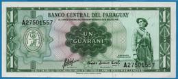 PARAGUAY    1 Guaraní    L. 25.03.1952 (1963) # A27501557 P# 193b - Paraguay
