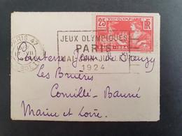Petit Enveloppe 9 X 6,5 Cm. Jeux Olympiques 1924 Paris. - Estate 1924: Paris