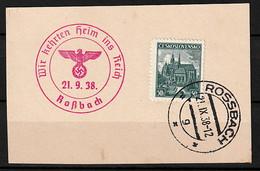 Sudetenland Briefstück - Sudetenland