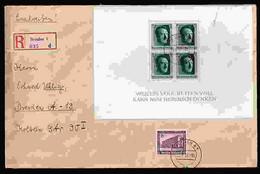 Deutsches Reich Block 7 U. A. Auf Brief - Gebraucht